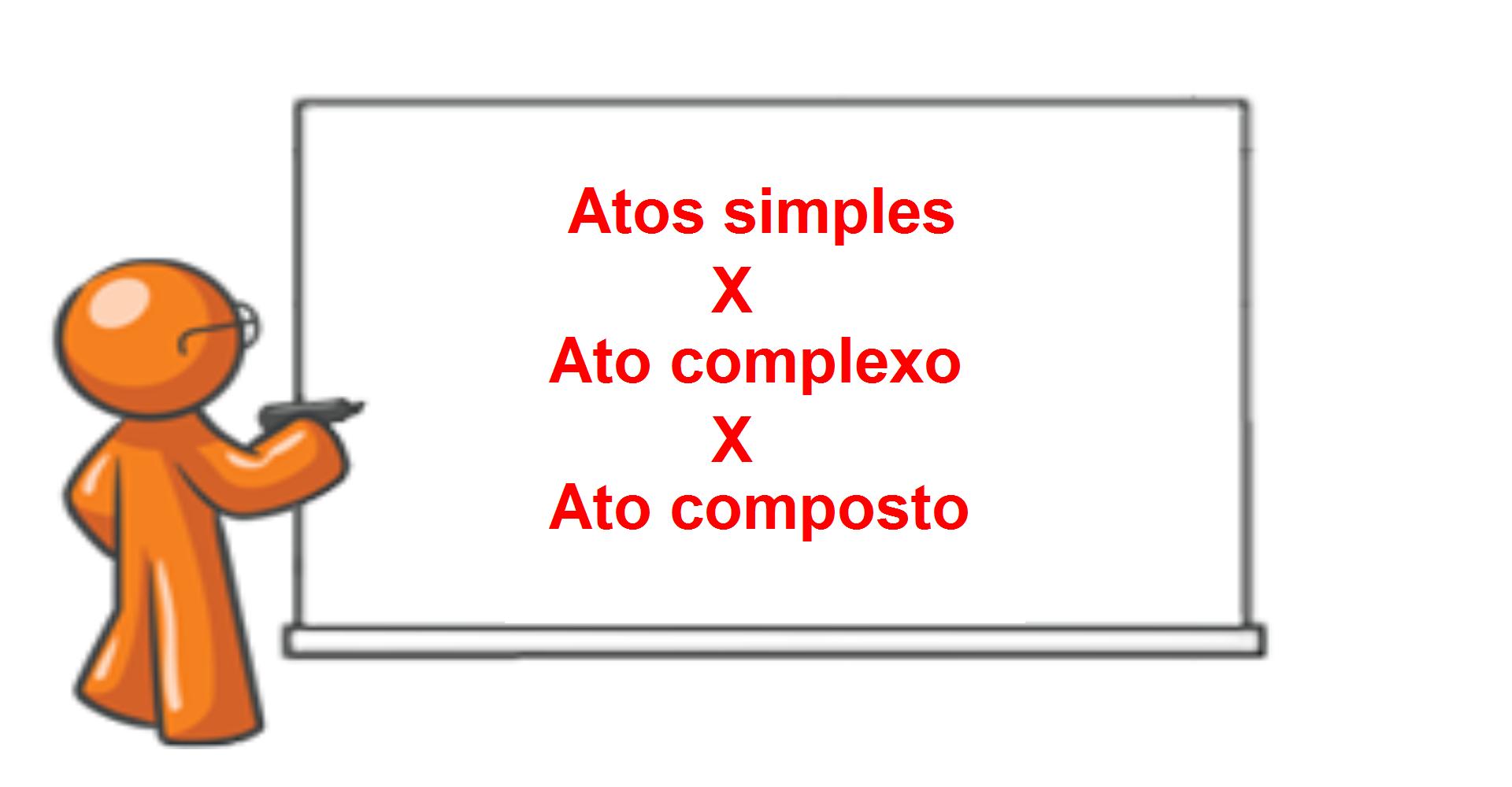 Ato administrativo simples, complexo e composto