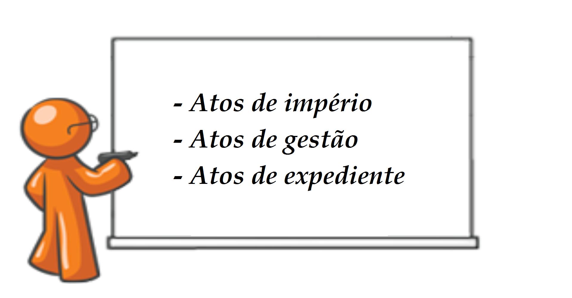Atos administrativos de império,  de gestão e de expediente